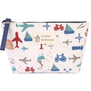 Travel print cosmetic bag